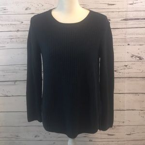 J Jill navy blue sweater deepbluhth NWT small